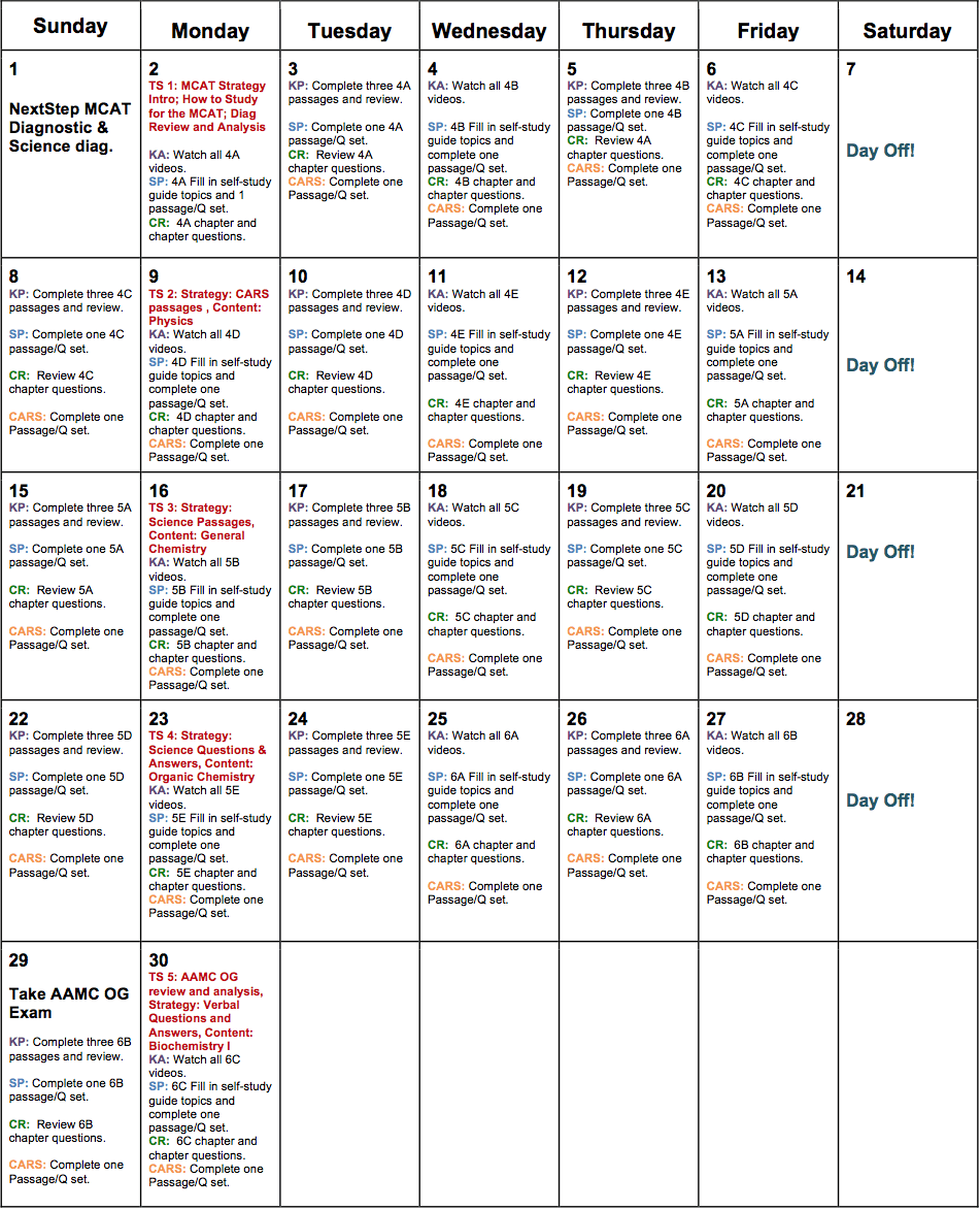 MCAT 2015 Sample Tutoring Plan (24 Hrs)