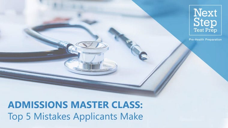 Next Step Med School Admissions Master Class